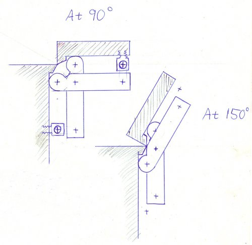 Pantograph hinge drawing